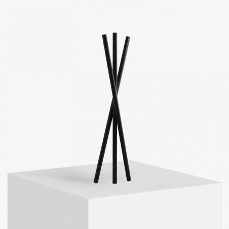 Black 3 layer paper straws