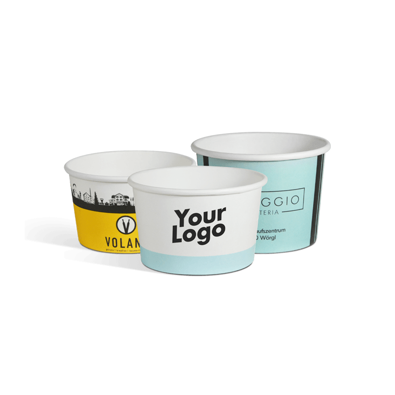 Ice cream cups with your logo