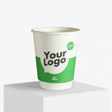 Double wall paper cups with logo