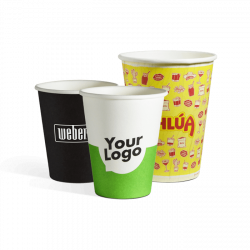 Single wall paper cups with...