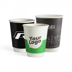 Double wall paper cups with...