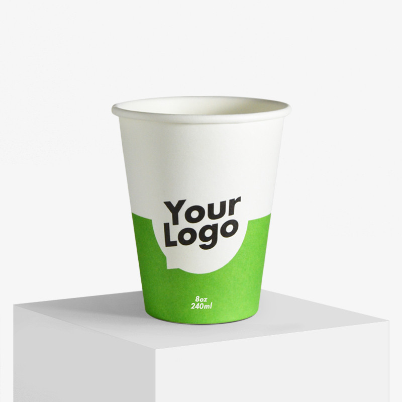 240 ml. paper cups with your logo