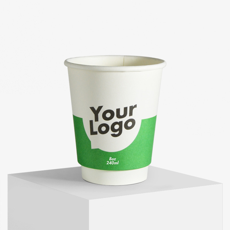 240 double wall matt paper cups with your logo