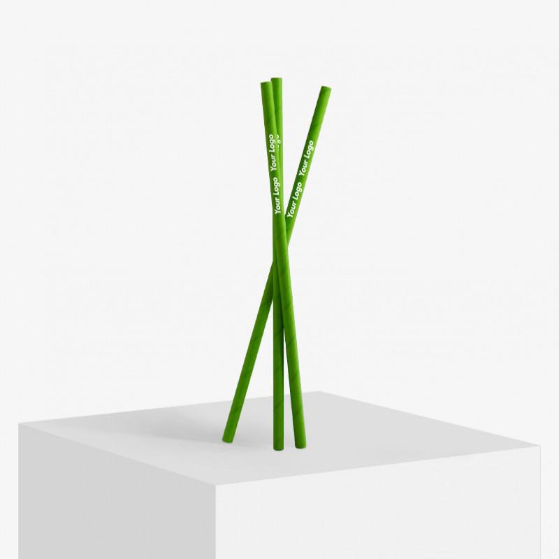 Custom designed paper straws