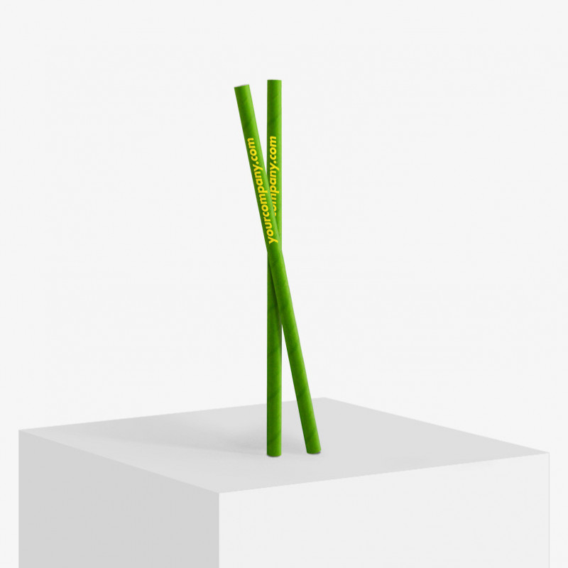 Logo printed bubble tea paper straws