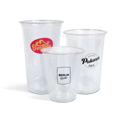 Full colour printed plastic cups