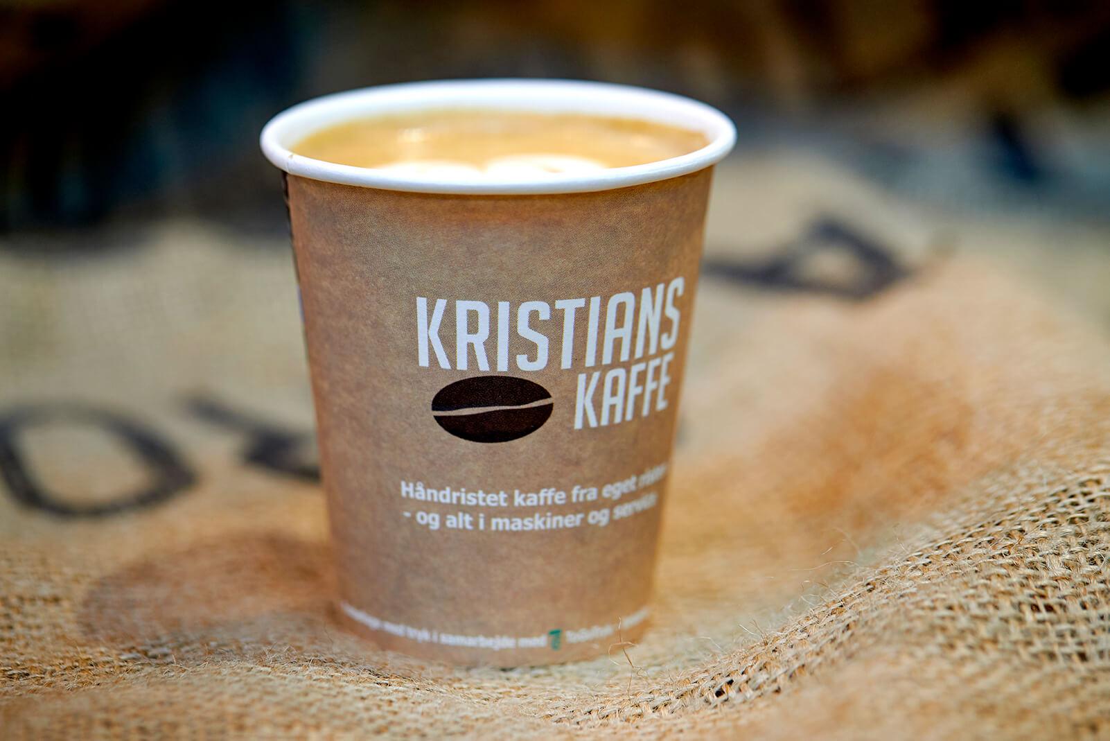kristians kaffe papkrus med logo