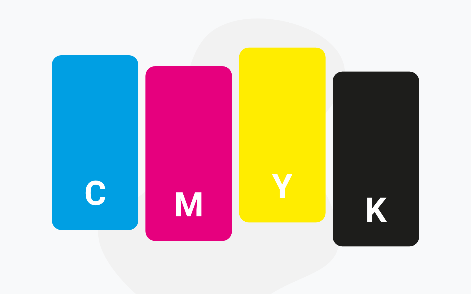 Everything About Cmyk Colours Limepack Blog Although a combination of 100% cyan, magenta, and yellow inks should, in theory, completely absorb the entire visible spectrum of light and produce a perfect black, practical inks fall short of their ideal characteristics and the result is actually a dark muddy color that does not quite appear black. everything about cmyk colours