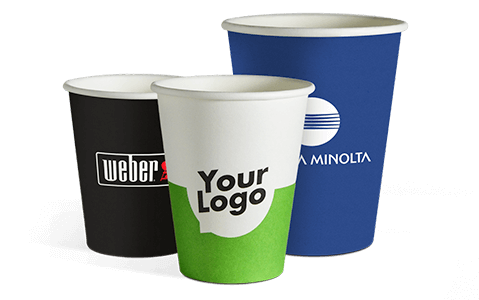 Click and go to the product site for single wall paper cups with your logo.